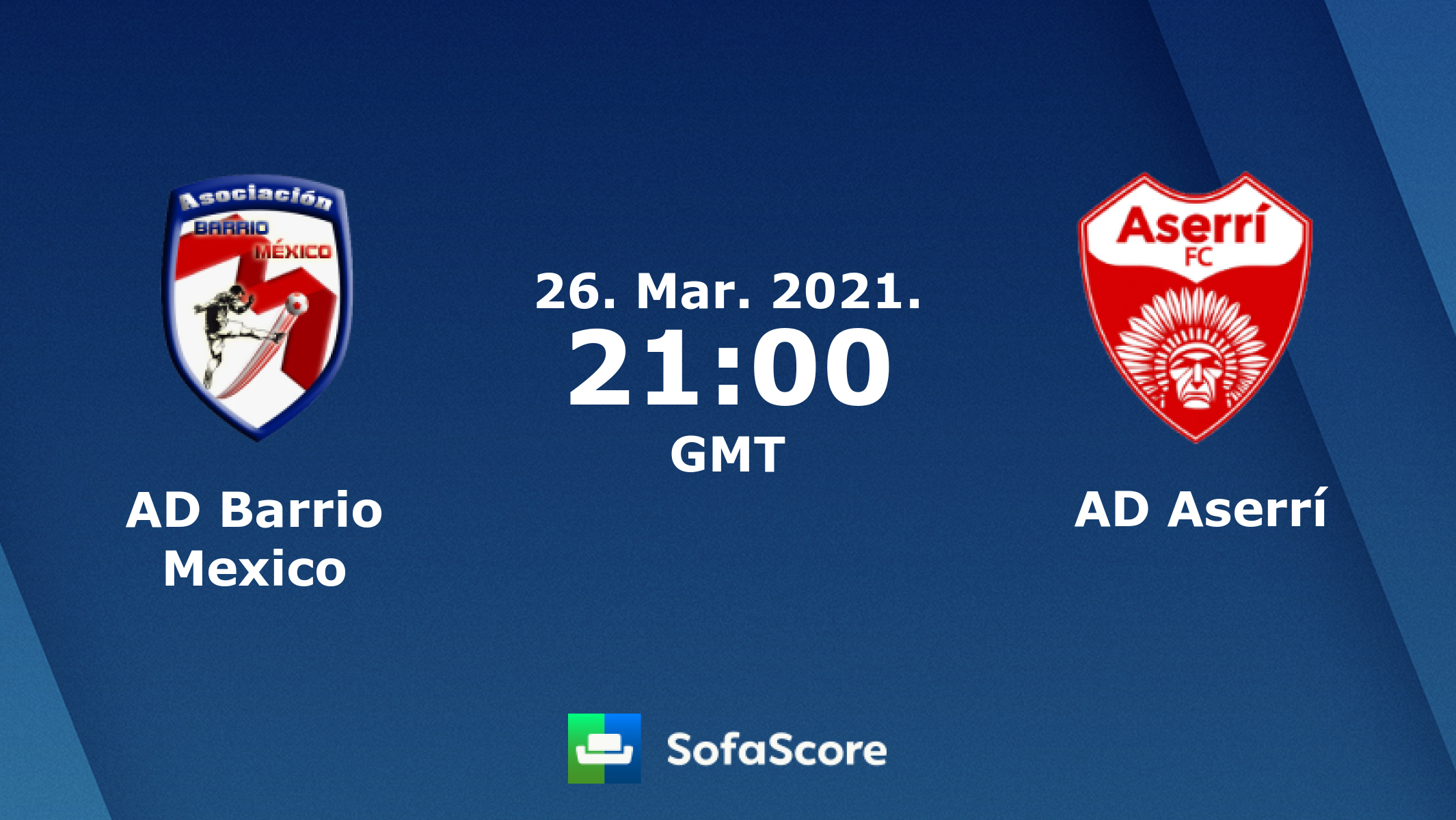 AD Barrio Mexico vs AD Aserrí live score, H2H and lineups ...