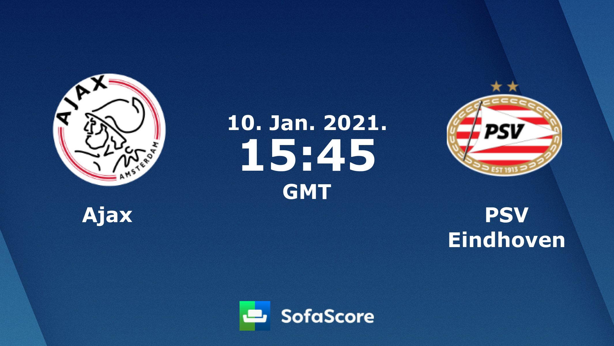 Ajax Psv Eindhoven Live Score Video Stream And H2h Results Sofascore