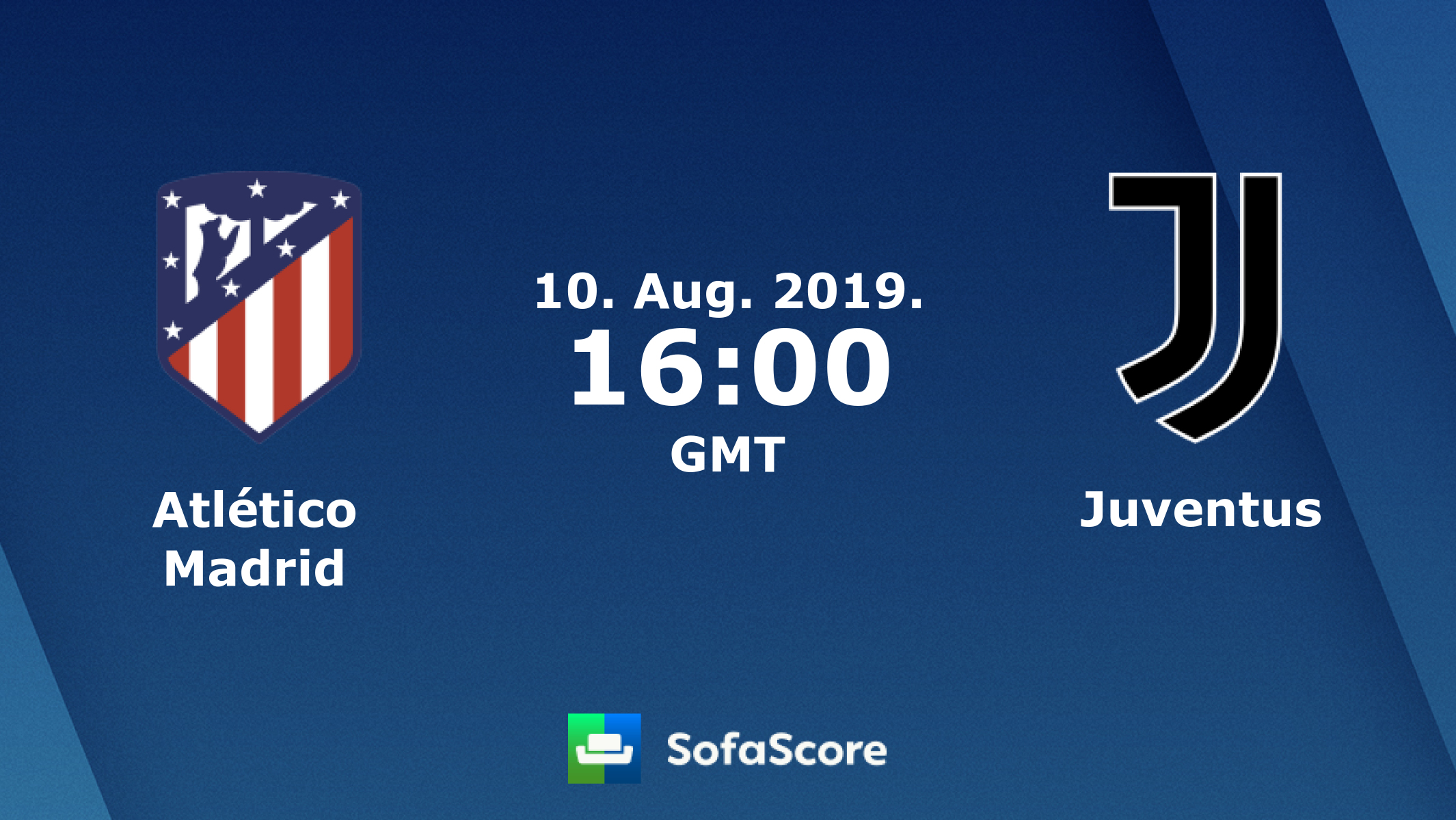 Atlético Madrid Juventus live score, video stream and H2H results