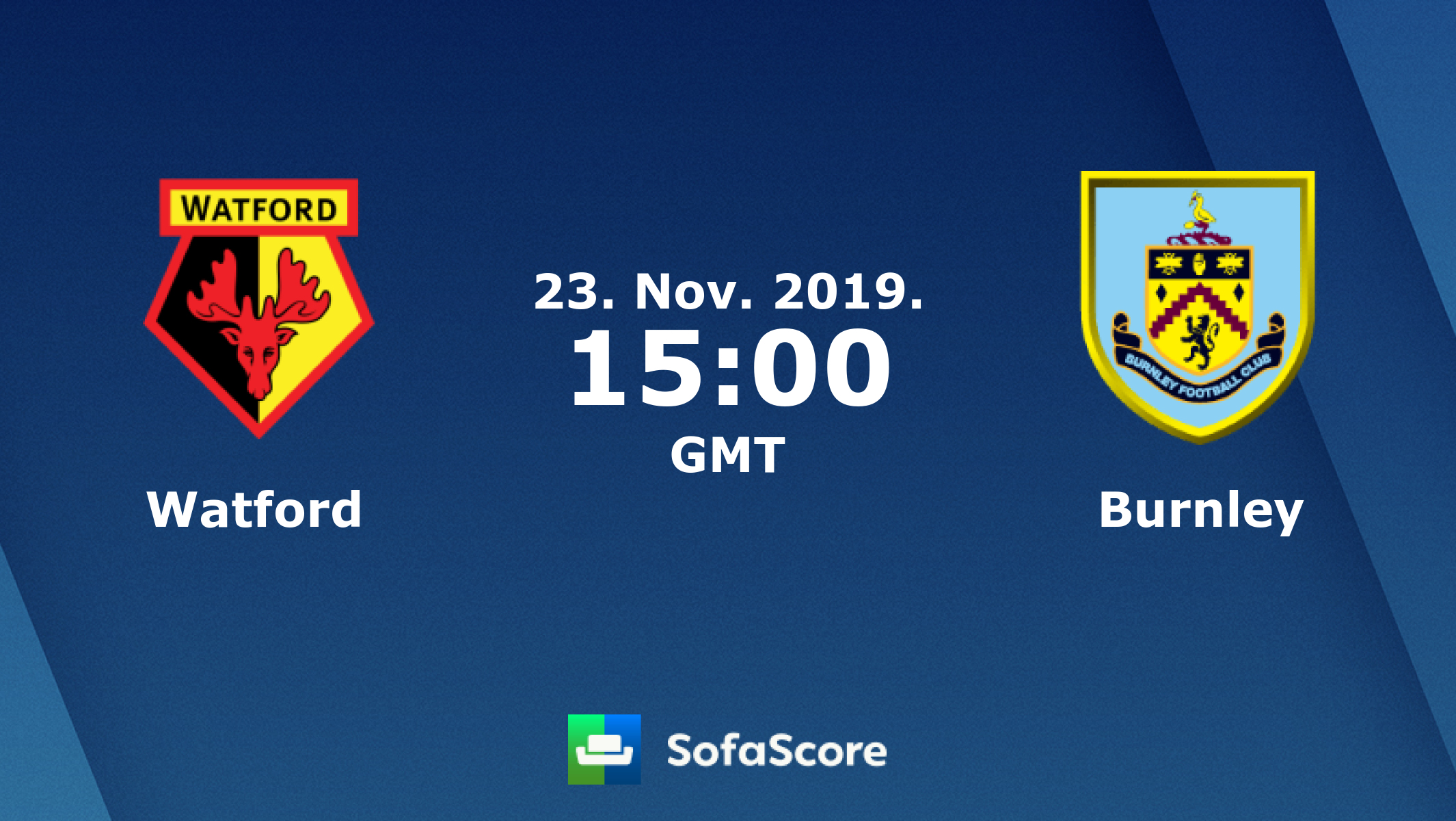Watford Burnley live score, video stream and H2H results