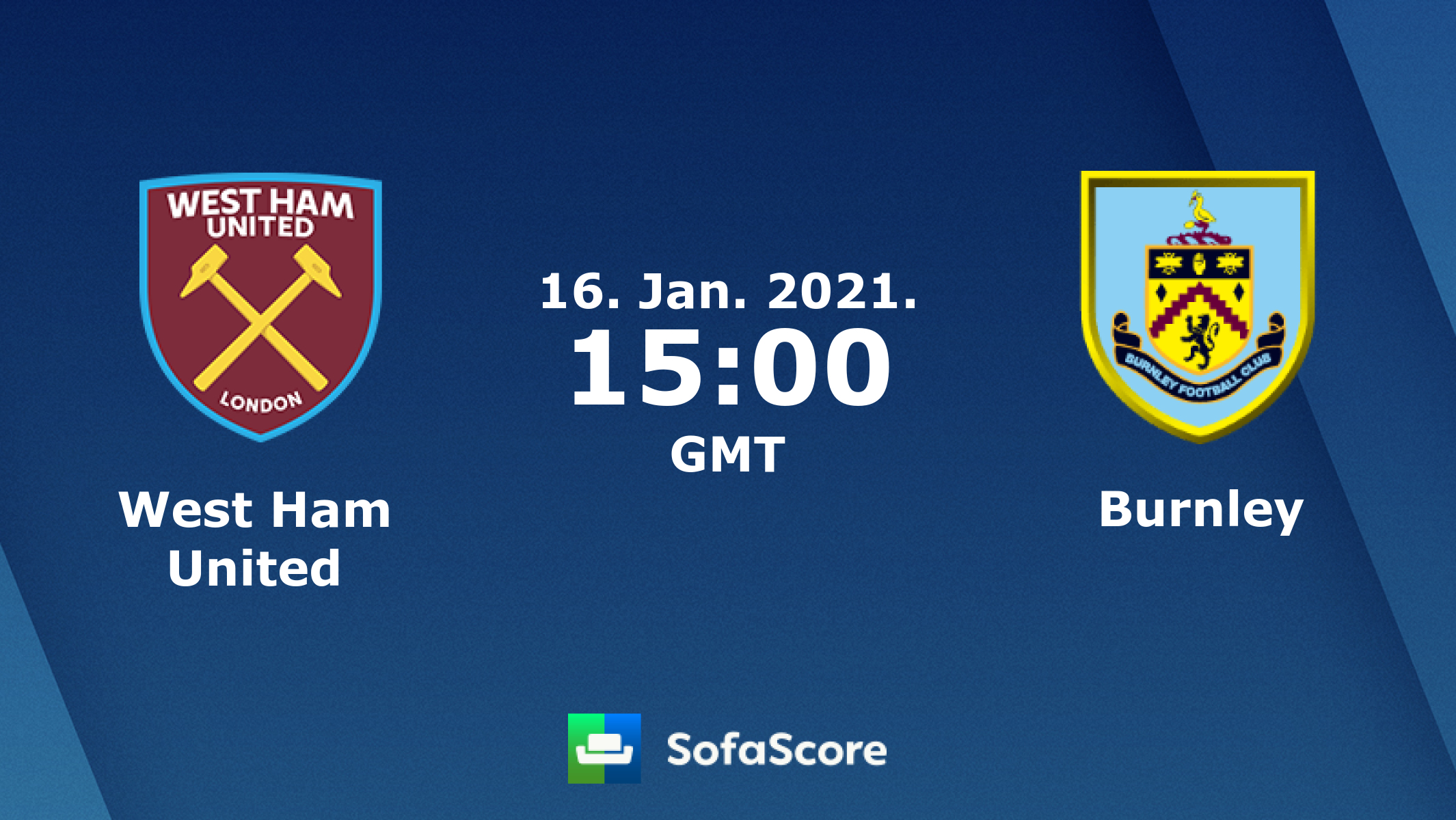 West Ham United Burnley Live Score Video Stream And H2h Results Sofascore