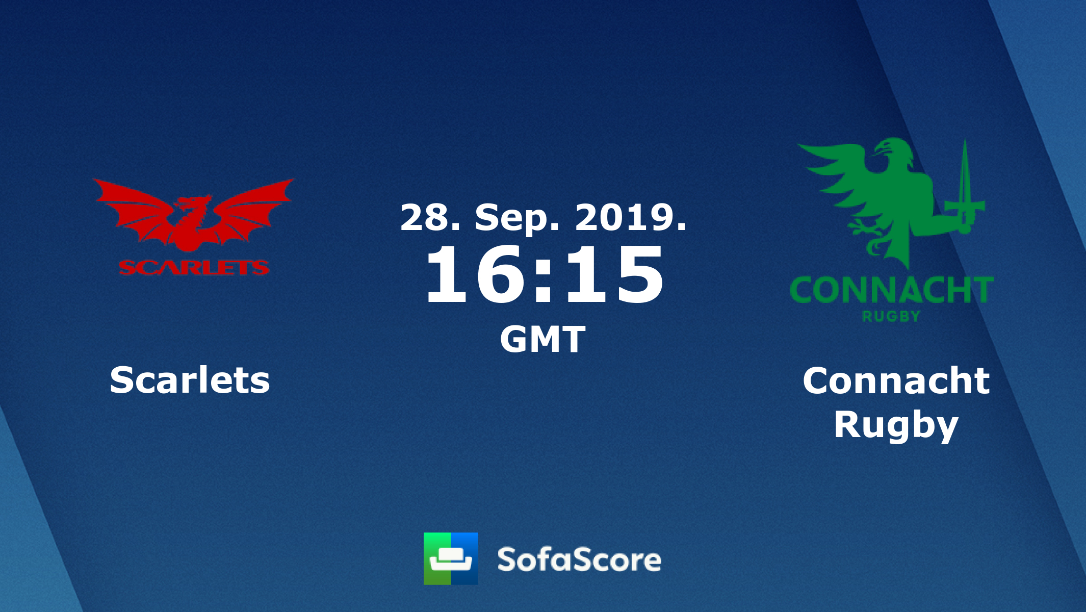Scarlets Connacht Rugby live score, video stream and H2H