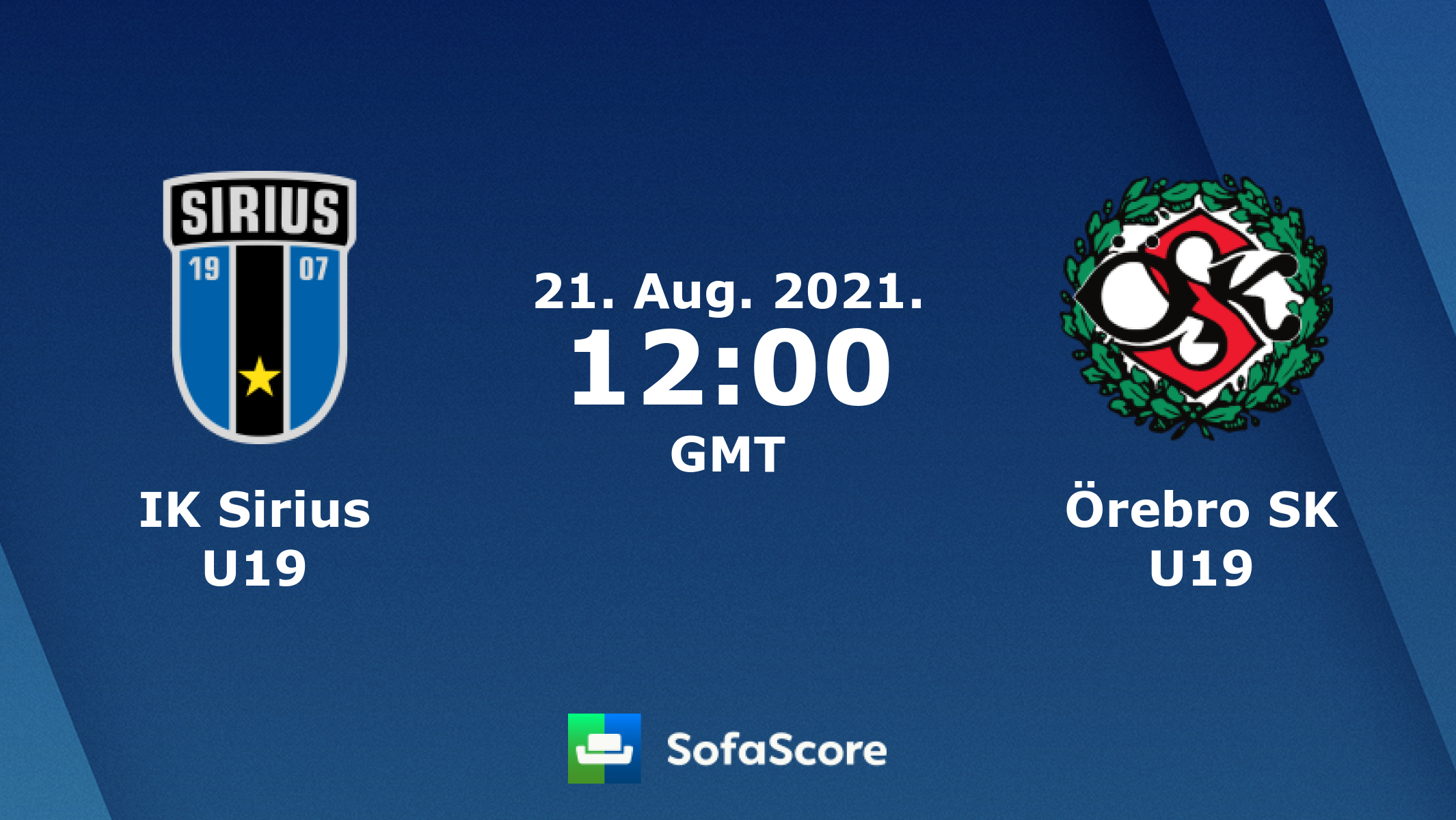 IK Sirius <b>U19</b> vs Örebro SK <b>U19</b> live score, H2H and lineups ...