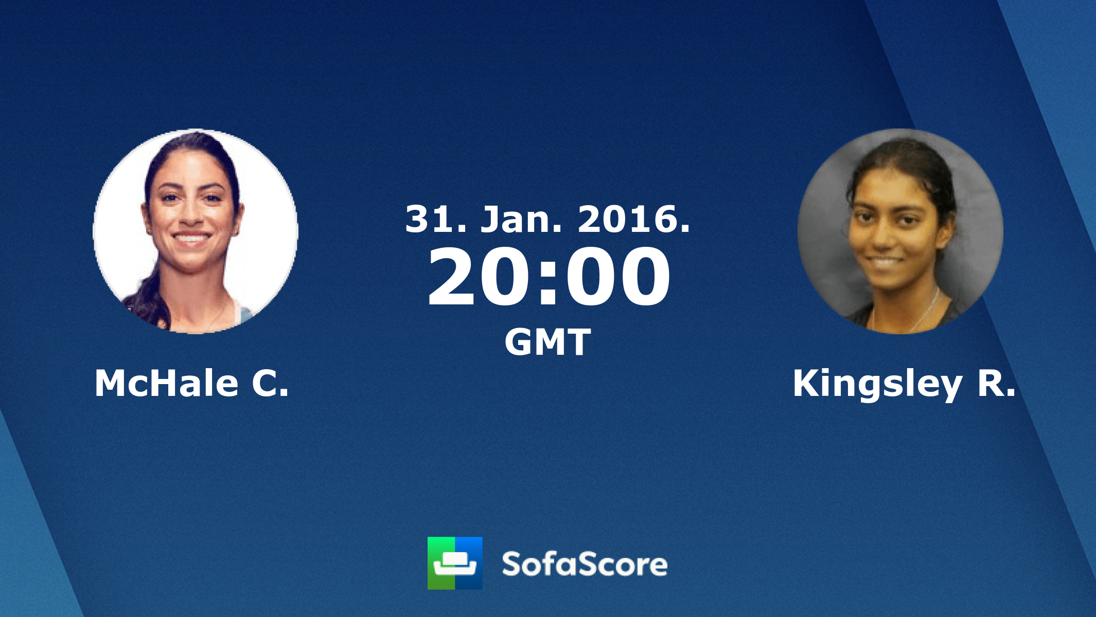 Mchale C. Kingsley R. live score, video stream and H2H results - SofaScore .com