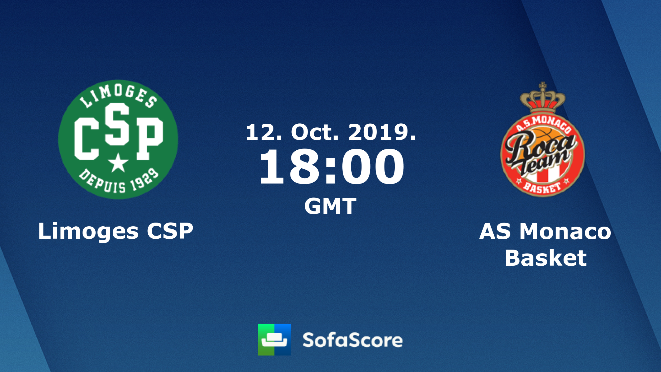 Limoges CSP AS Monaco Basket live score, video stream and H2H