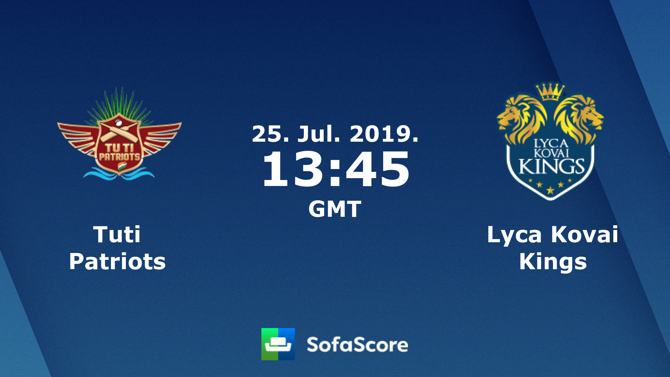 Tuti Patriots Lyca Kovai Kings live score, video stream and H2H
