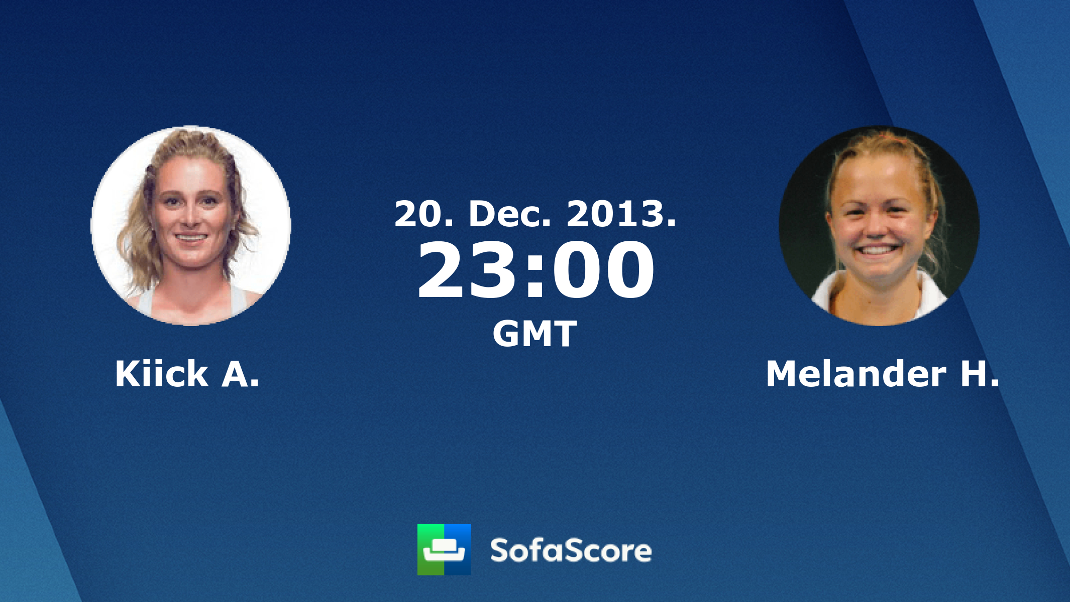 Kiick A Melander H Live Score Video Stream And H2H Results