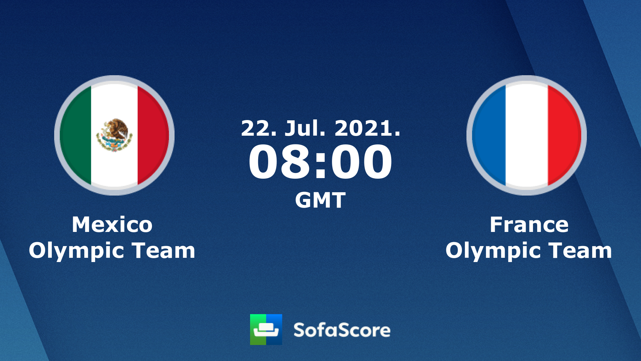 Mexico Olympic Team France Olympic Team Live Score Video Stream And H2h Results Sofascore