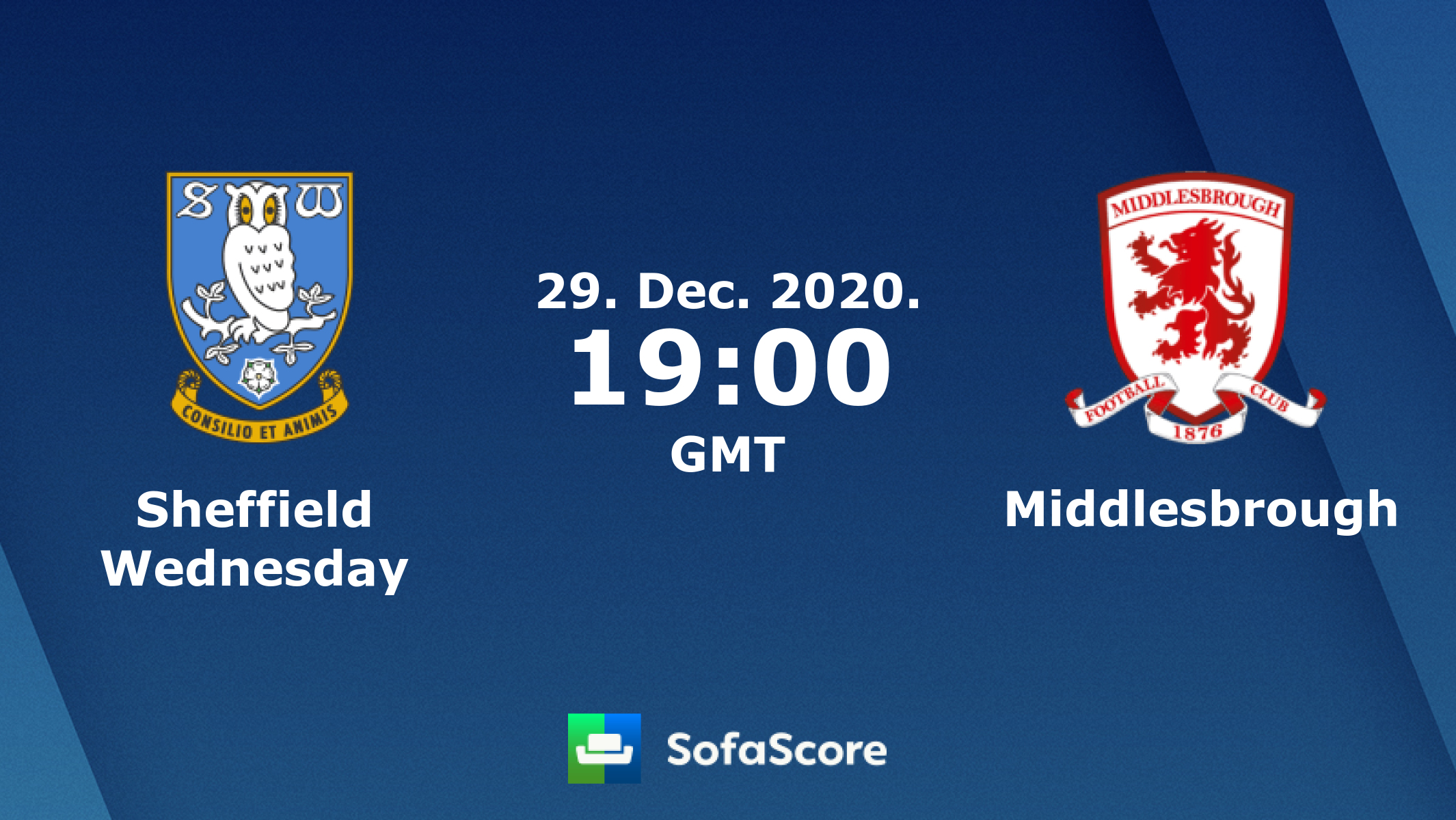 Sheffield Wednesday Middlesbrough Live Score Video Stream And H2h Results Sofascore