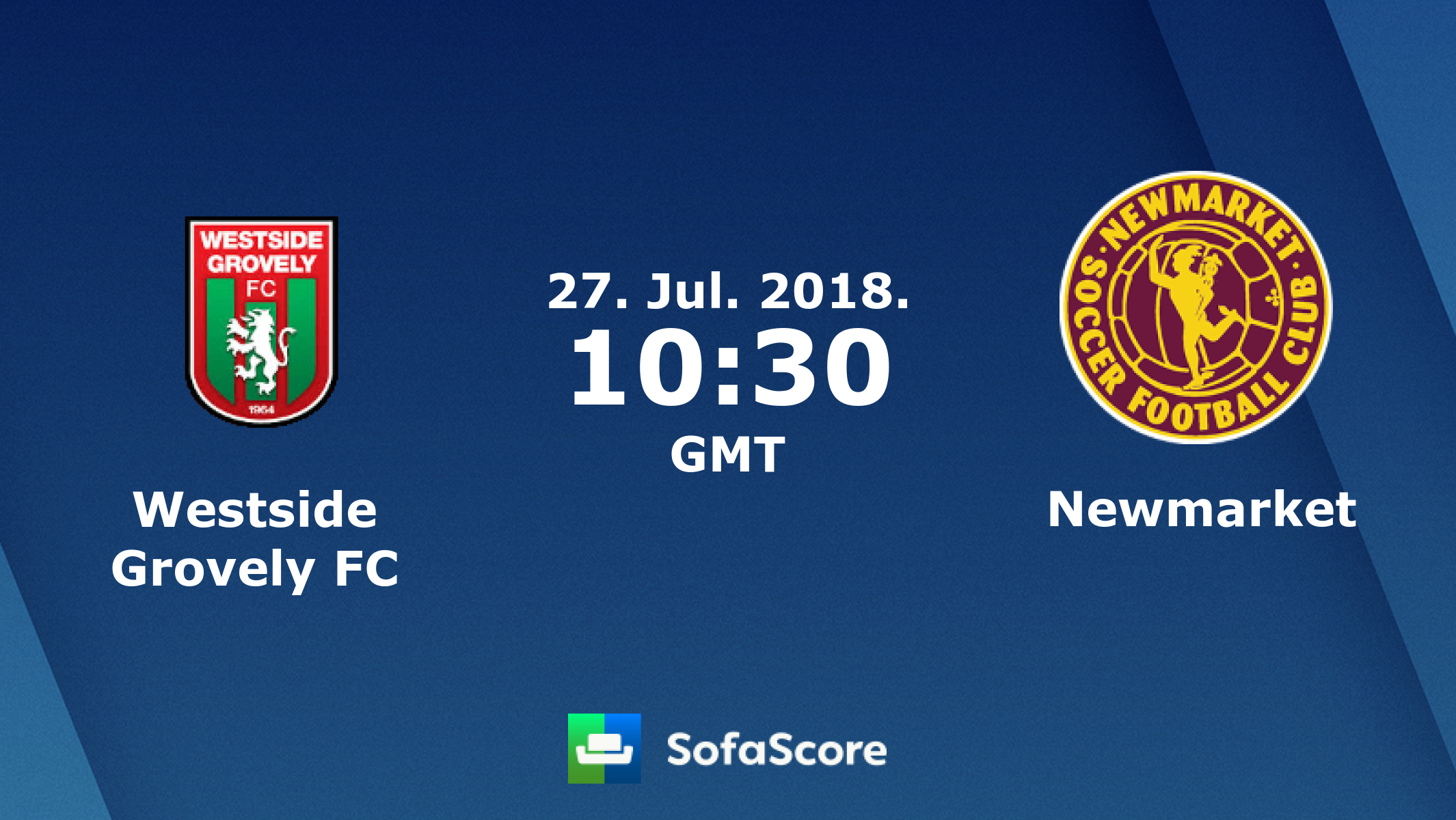 Westside Newmarket Sfc Live Score Video Stream And H2h Results