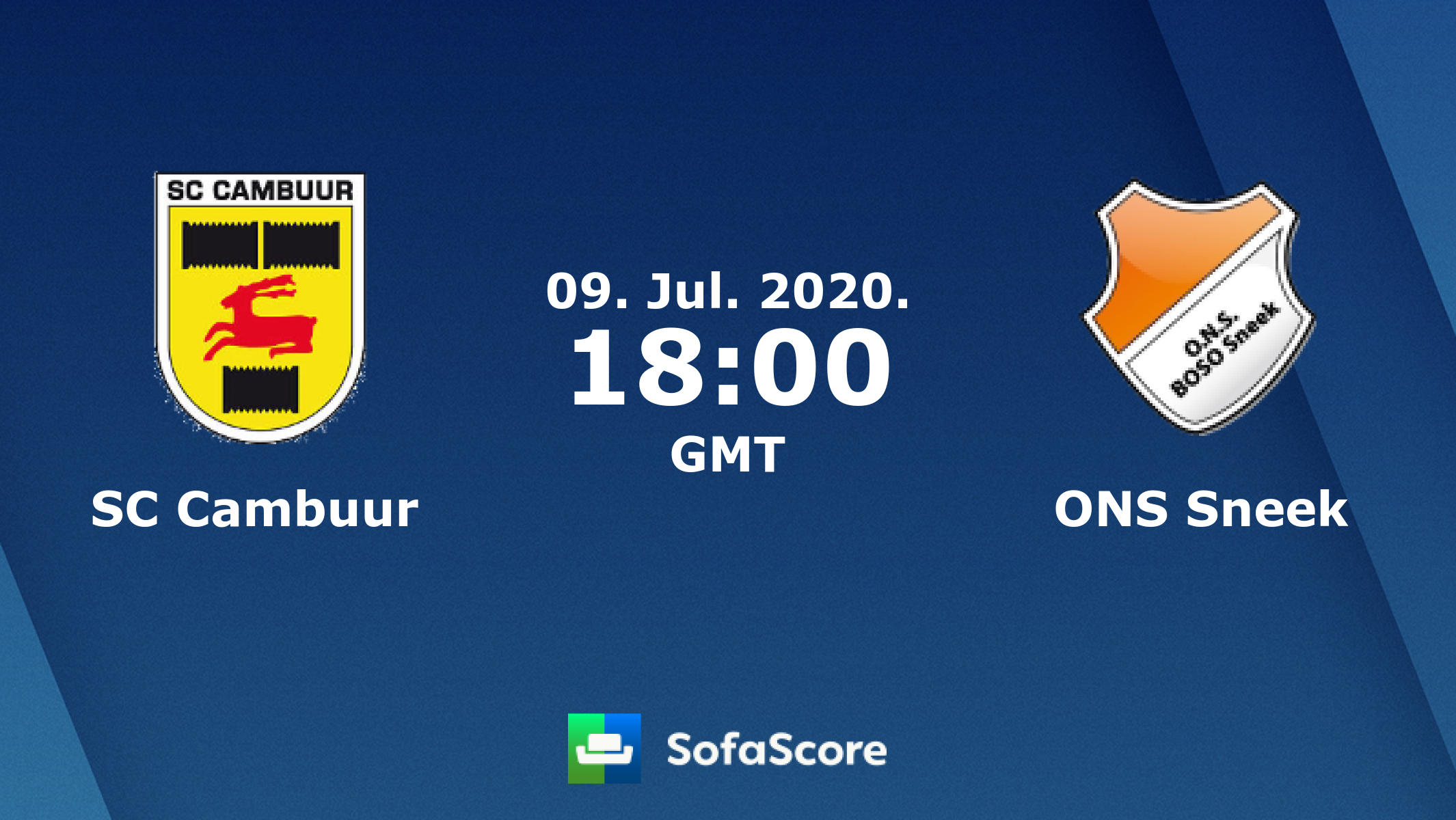 Sc Cambuur Ons Sneek Live Score Video Stream And H2h Results Sofascore