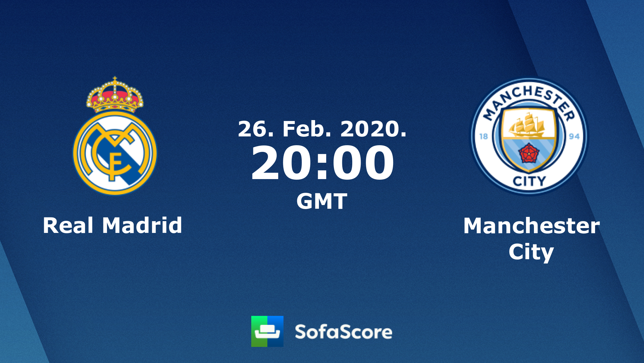 Real Madrid Manchester City Live Score Video Stream And H2h