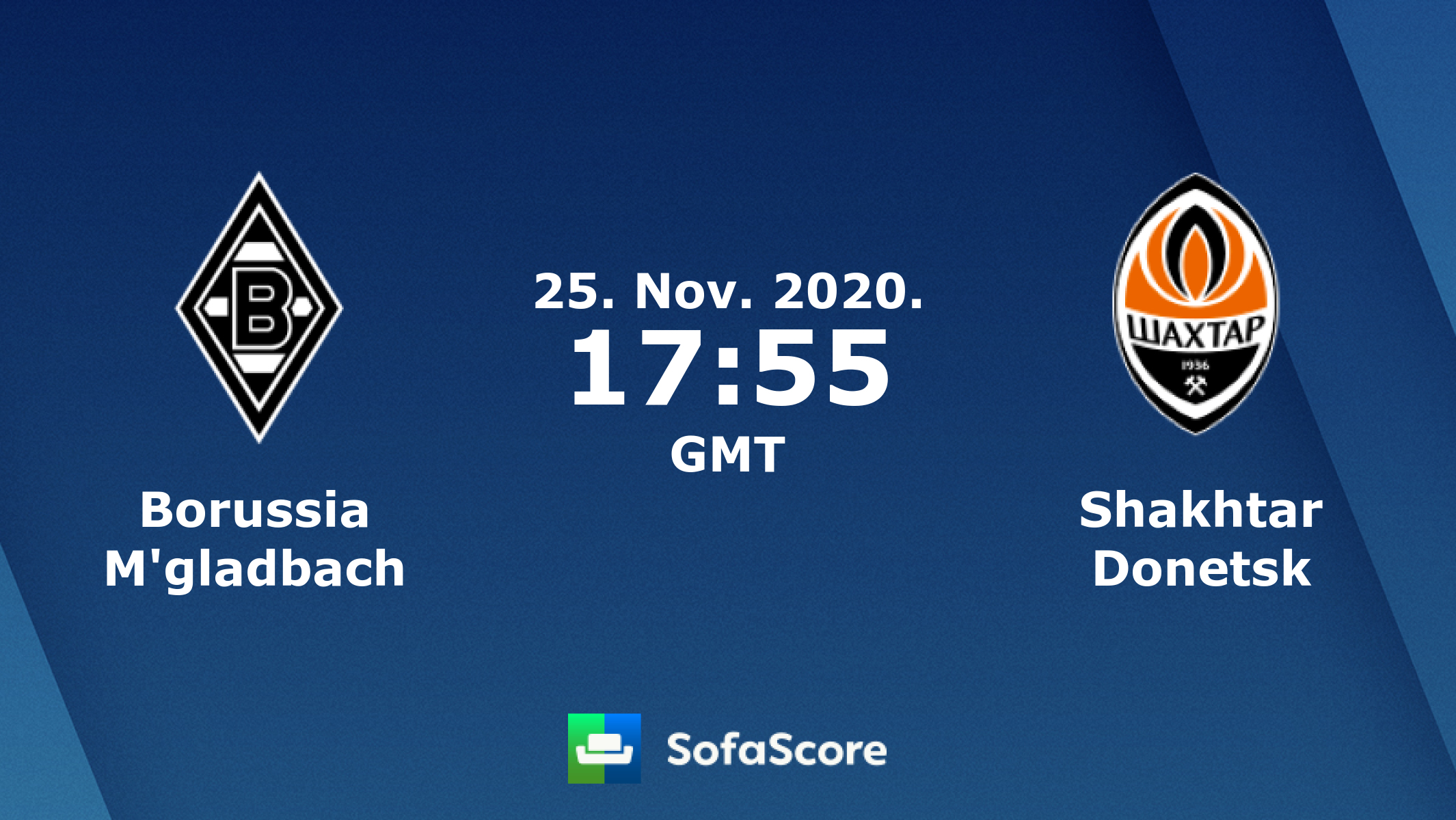 Borussia M Gladbach Shakhtar Donetsk Live Score Video Stream And H2h Results Sofascore