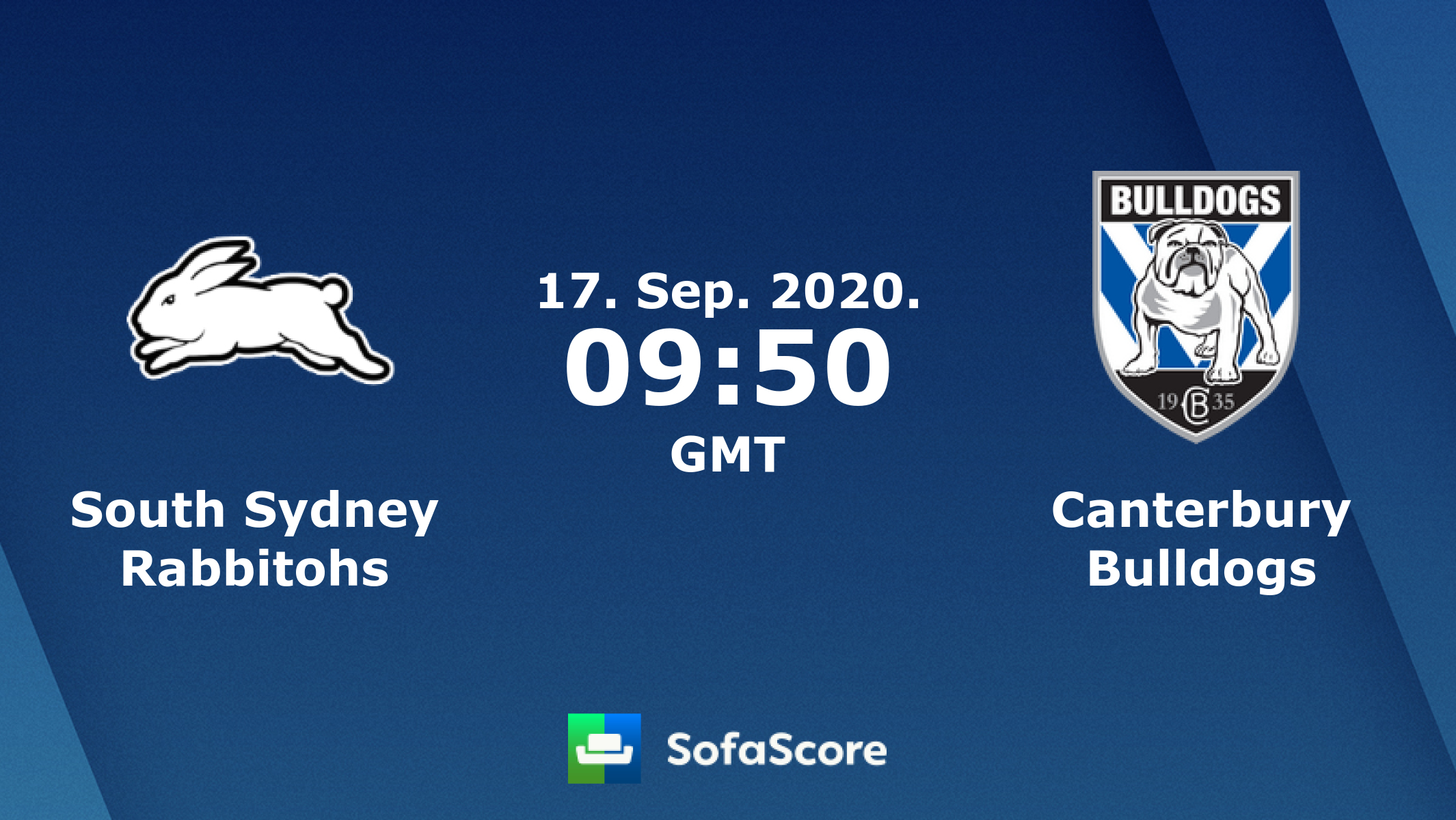 South Sydney Rabbitohs Canterbury Bulldogs Live Score Video Stream And H2h Results Sofascore