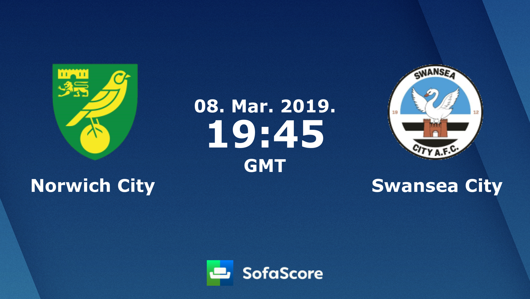 Norwich City Swansea City live score, video stream and H2H results