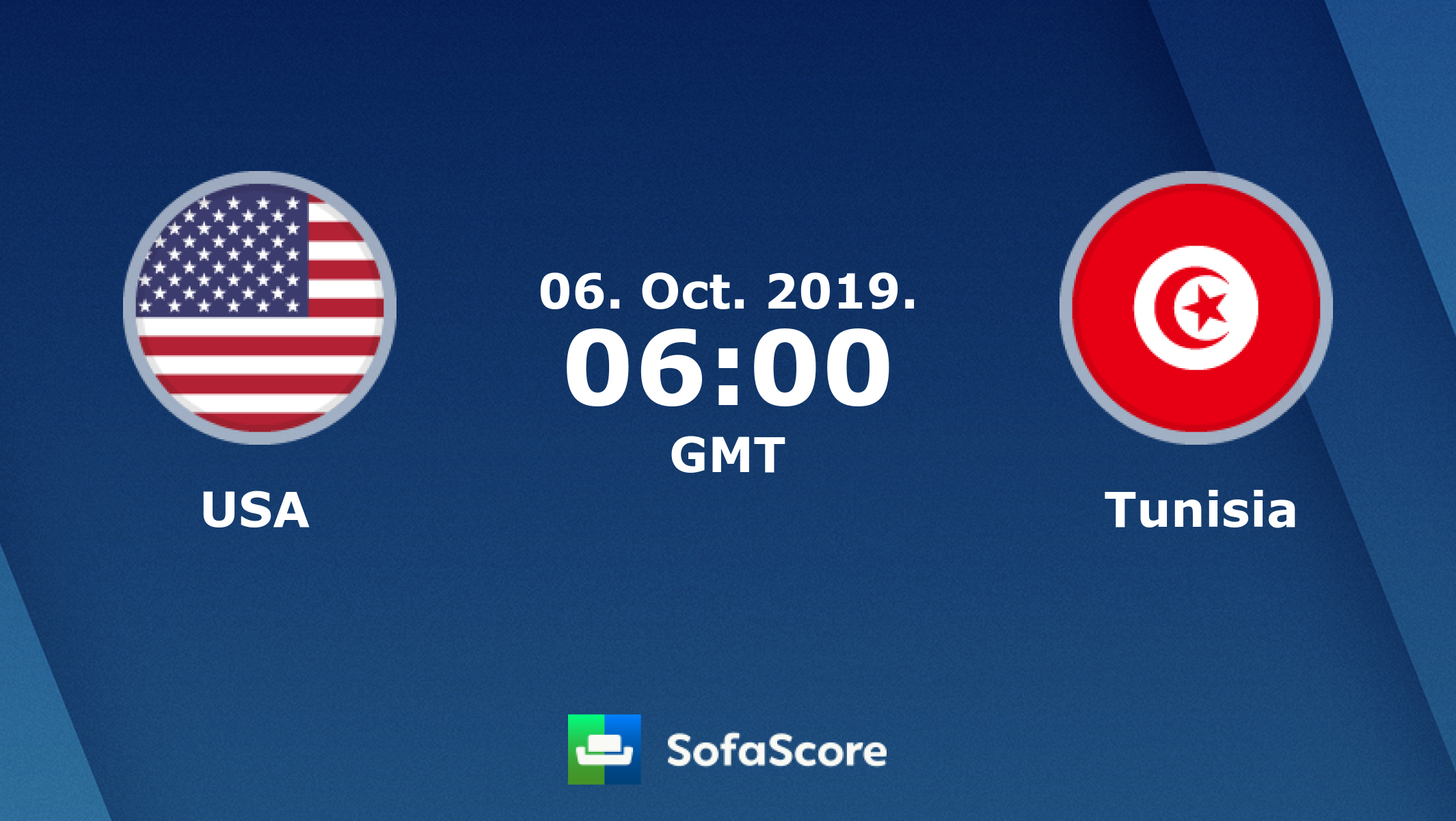 Usa Tunisia Live Score Video Stream And H2h Results Sofascore