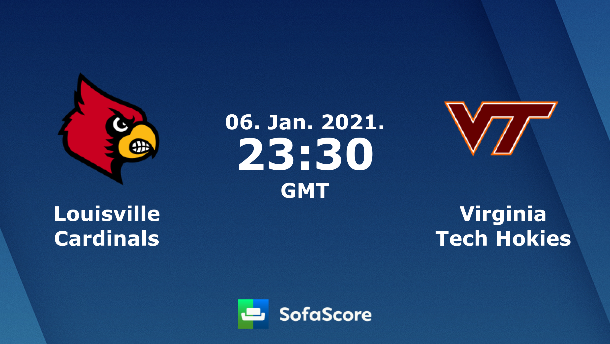 Louisville Cardinals Virginia Tech Hokies Live Score Video Stream And H2h Results Sofascore