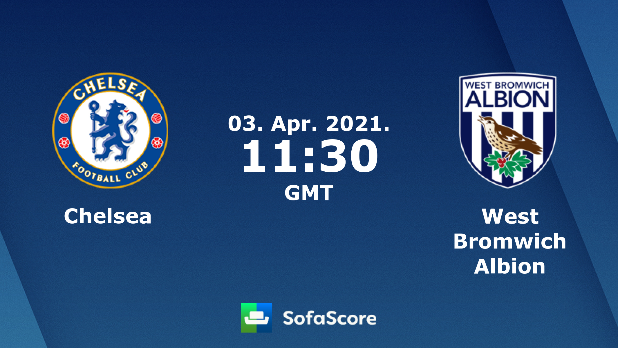 Chelsea West Bromwich Albion live score, video stream and H2H results -  SofaScore