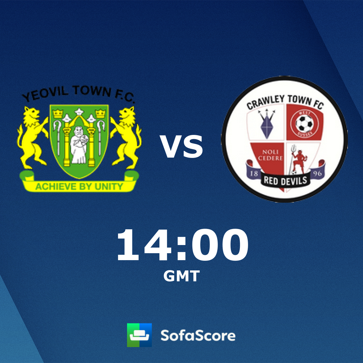 Yeovil Town Crawley Town live score, video stream and H2H