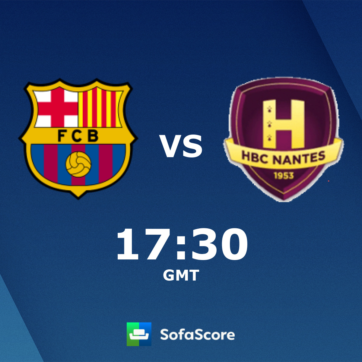 FC Barcelona HB HBC Nantes live score, video stream and H2H