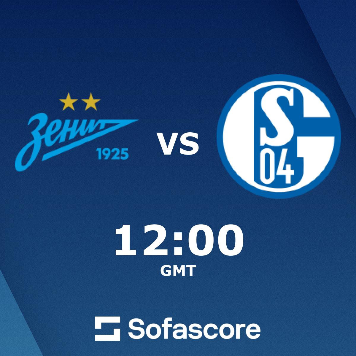 Zenit St. Petersburg FC Schalke 04 live score, video stream and H2H results  - SofaScore