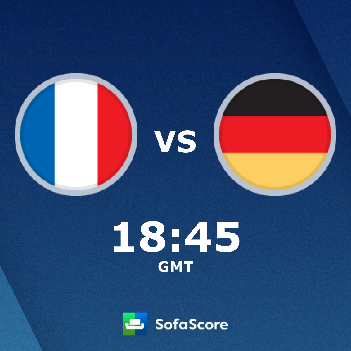 France Germany live score, video stream and H2H results