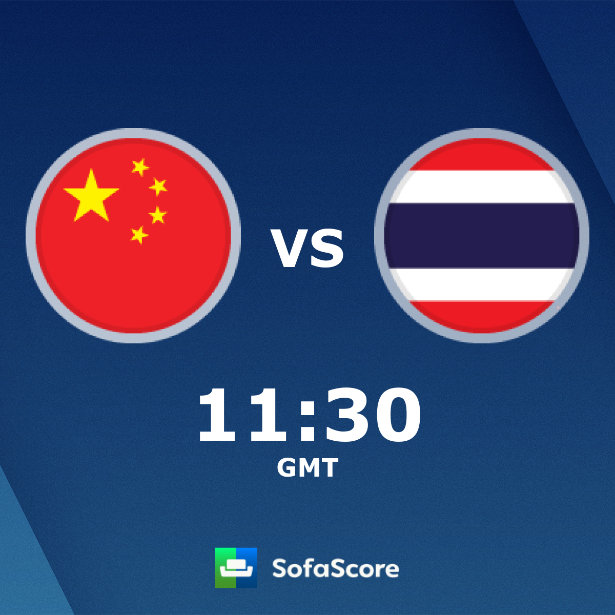 China Thailand Live Score Video Stream