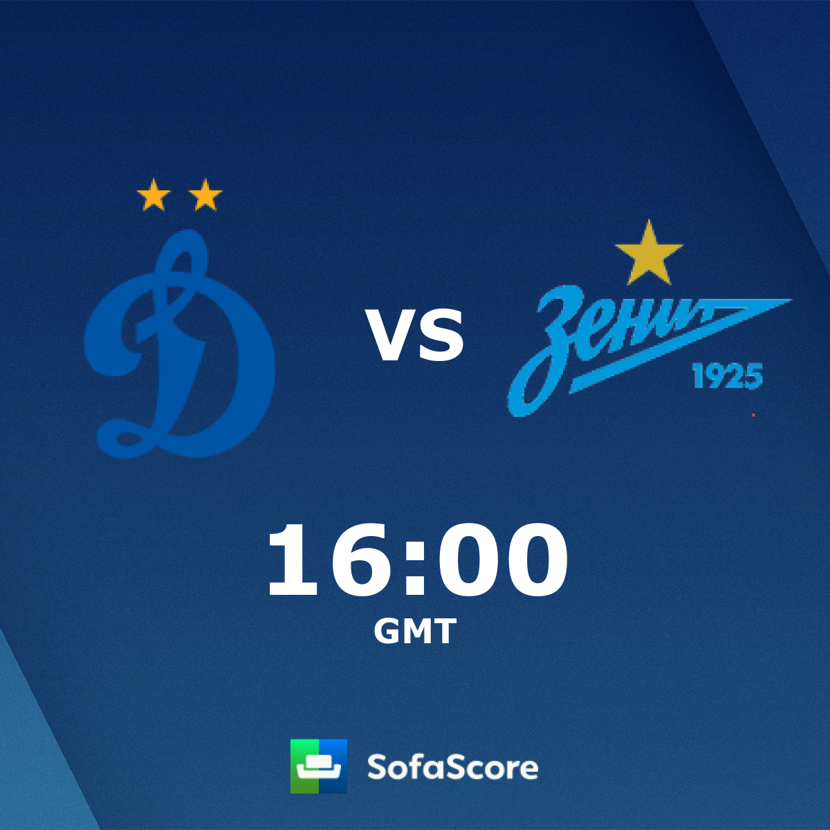Dynamo Moscow Zenit St  Petersburg live score, video stream and H2H