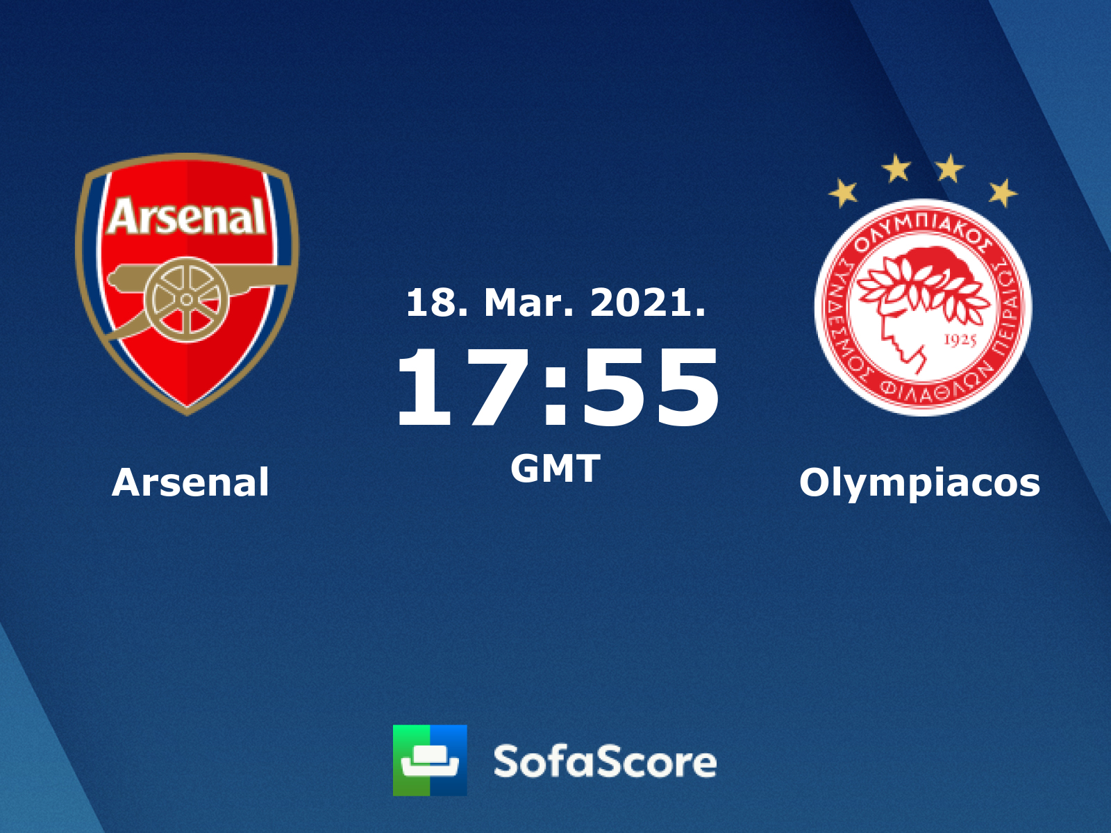 Arsenal Vs Olympiacos Live Score H2h And Lineups Sofascore