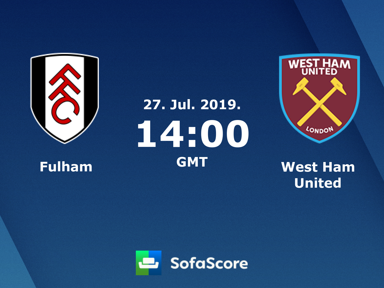 Fulham West Ham United Live Score Video Stream And H2h Results