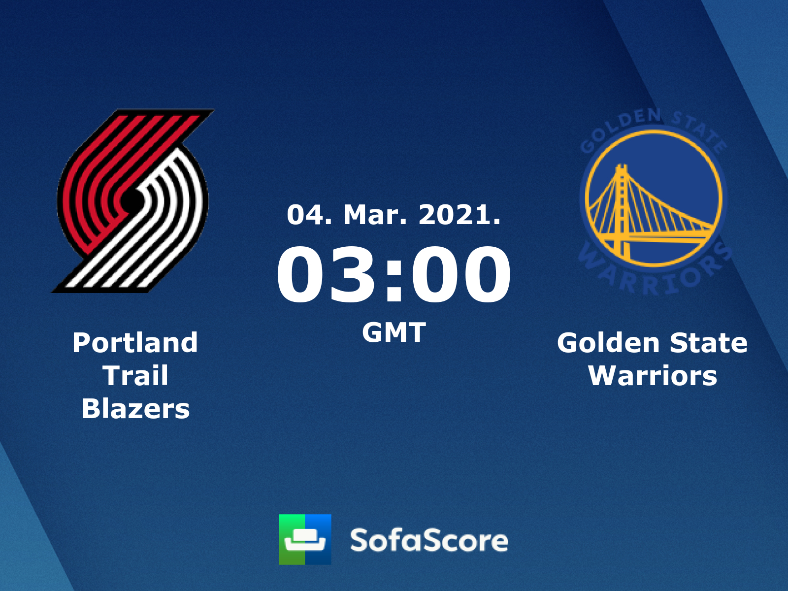 Portland Trail Blazers Golden State Warriors Live Score Video Stream And H2h Results Sofascore