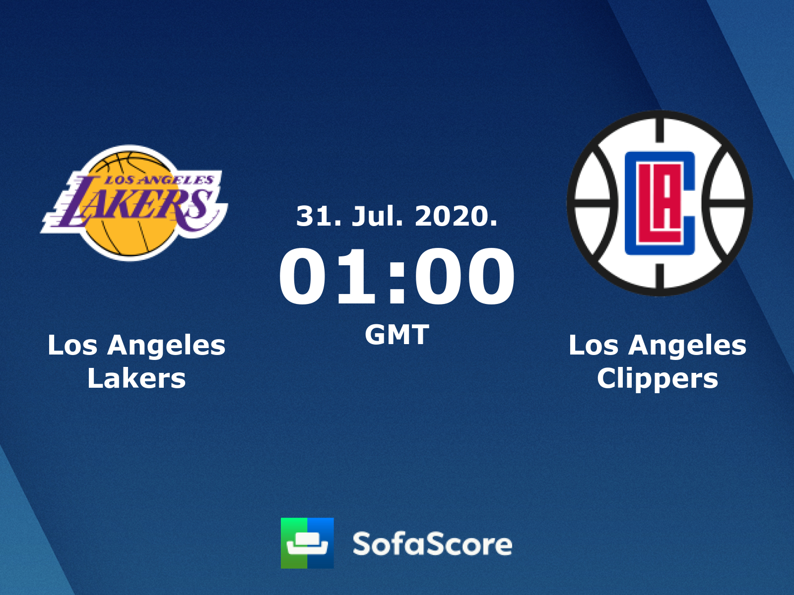 Los Angeles Lakers Los Angeles Clippers Live Score Video Stream And H2h Results Sofascore