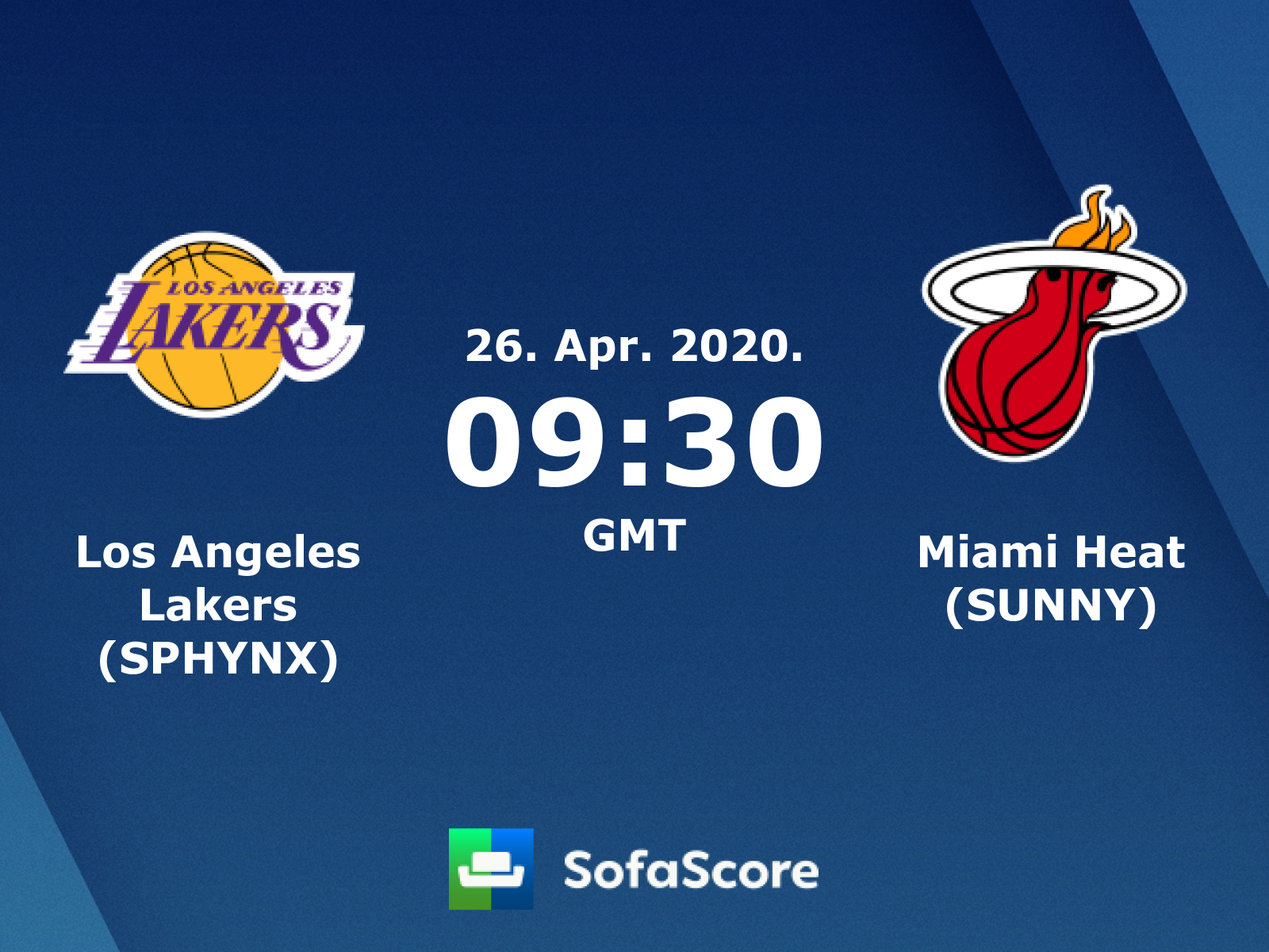 Los Angeles Lakers Sphynx Miami Heat Sunny Live Score Video Stream And H2h Results Sofascore