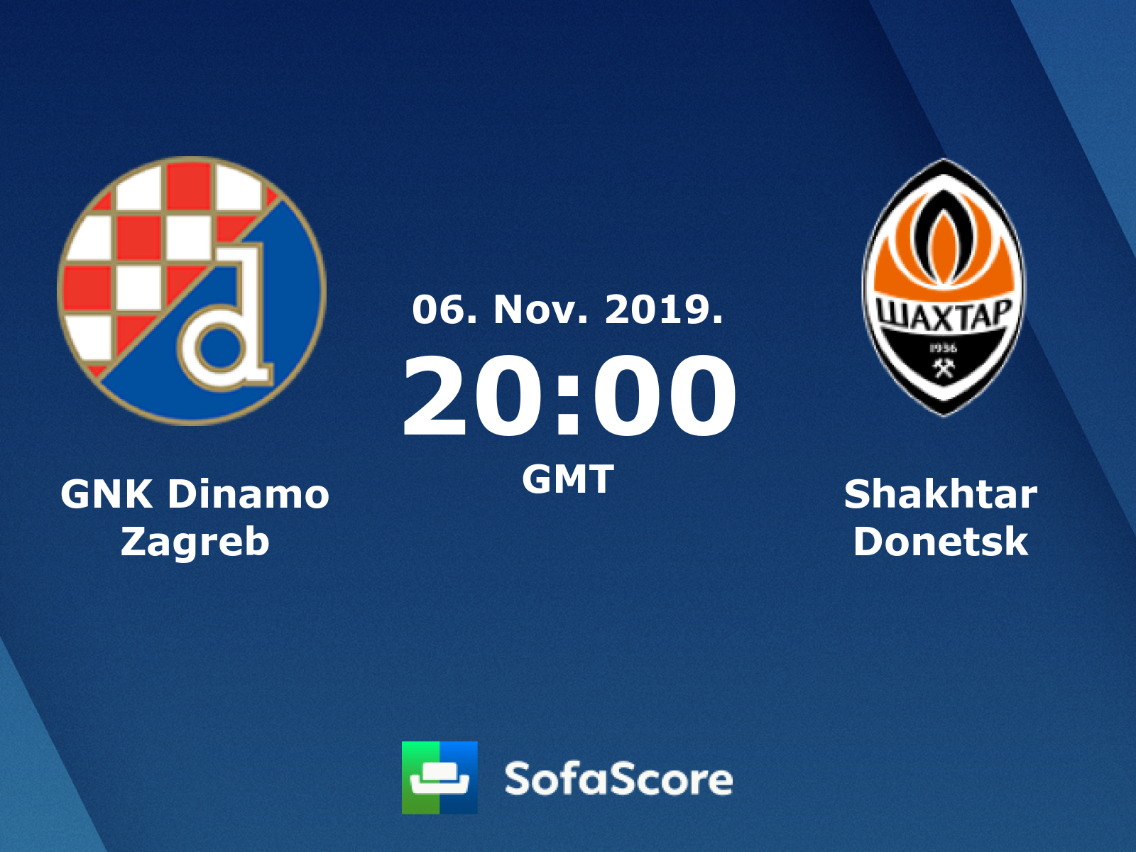Gnk Dinamo Zagreb Shakhtar Donetsk Live Score Video Stream And H2h Results Sofascore