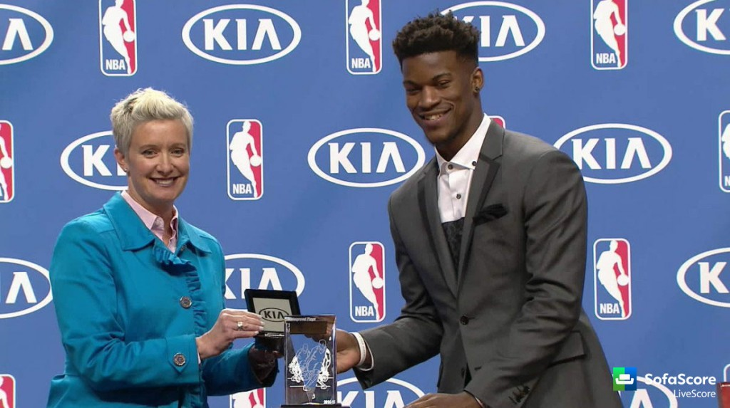 jimmy butler wins nba s most improved player award sofascore news