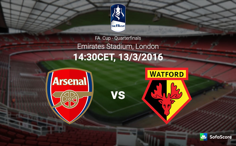 Arsenal welcome Watford in FA Cup clash - SofaScore News