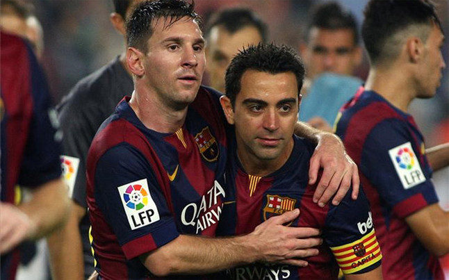 Xavi And Messi 2015