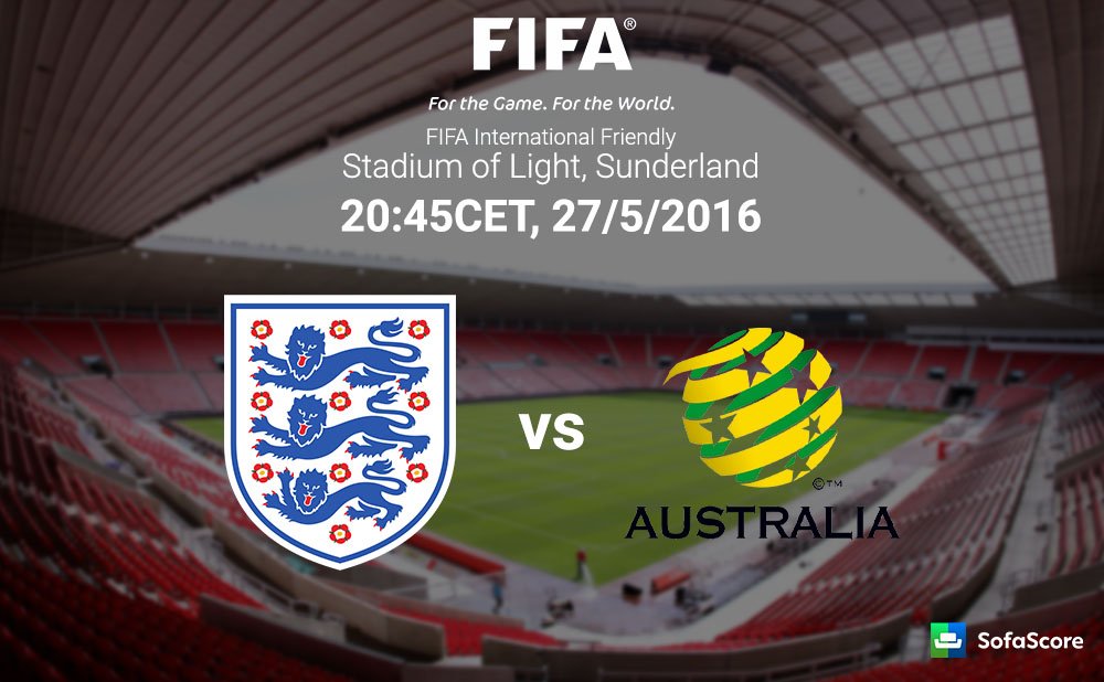 England Take On Socceroos In A Friendly Match Up