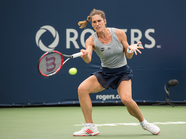 Andrea Petkovic knocks out France's