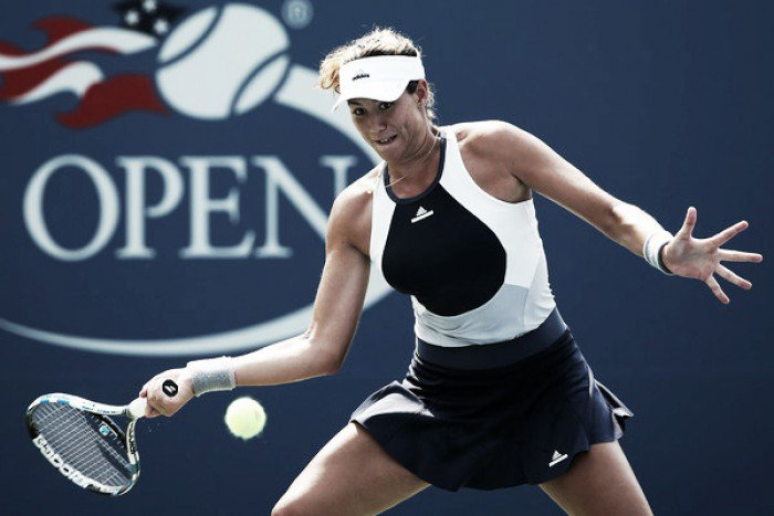 The second seeded Garbine Muguruza avoids an upset from