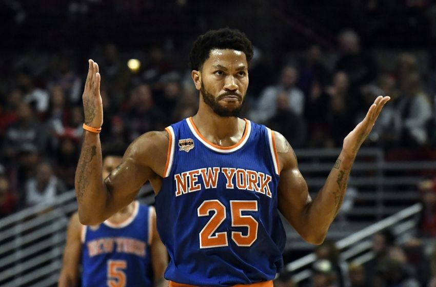 0d94d523ee49 Derrick Rose is a no-show for the Knicks game against the Pelicans.