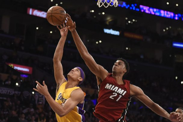 Lakers deliver final blow in 127-100 win against the Heat