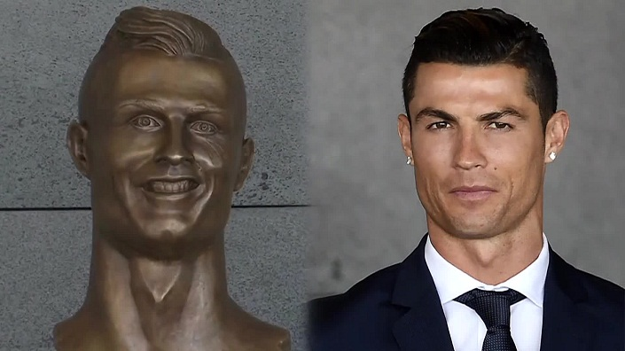 Cristiano Ronaldo sculptor explains why statue doesn't look like him