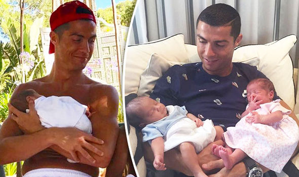 Image result for RONALDO WITH KIDS